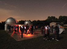 Baker Observatory at night